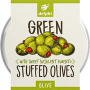 Delphi - Stuffed Green Olives with Pimento (1 x 160g)