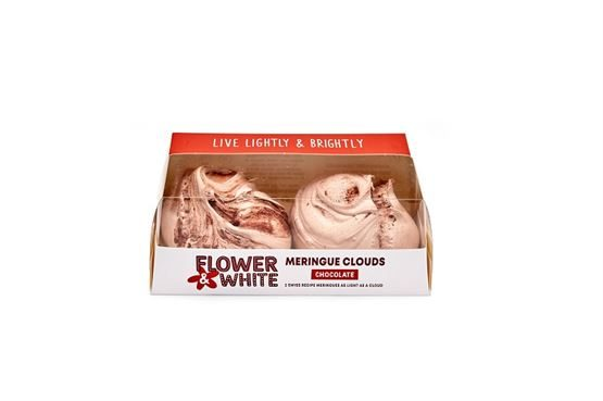 Flower & White - Chocolate Meringue Clouds (Twin Box) (8 x 140g)