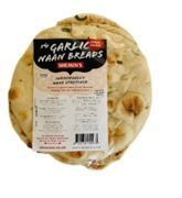 Shemins - Garlic Naan Bread (4 Pack) (1 x 350g)